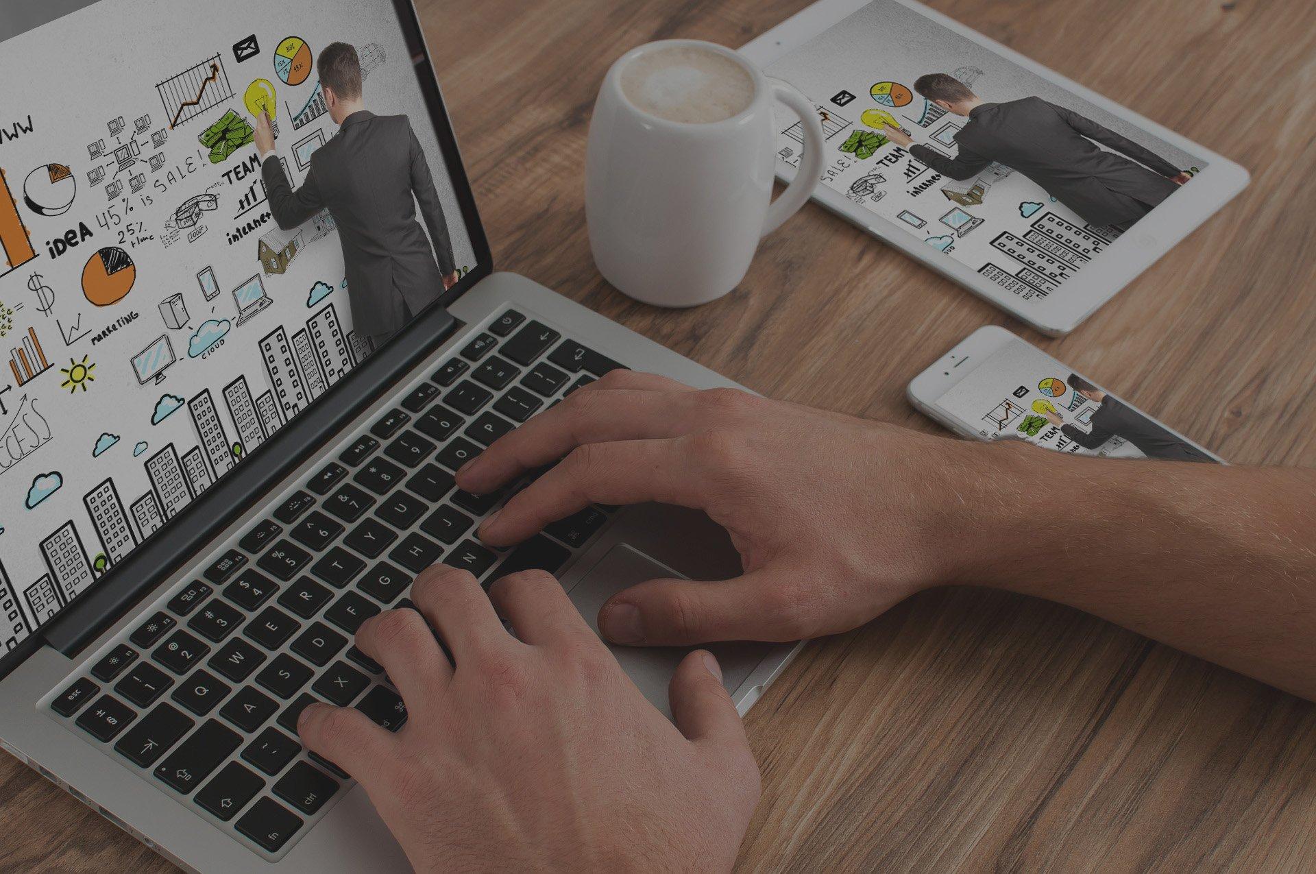Fondo de servicio Diseño Web